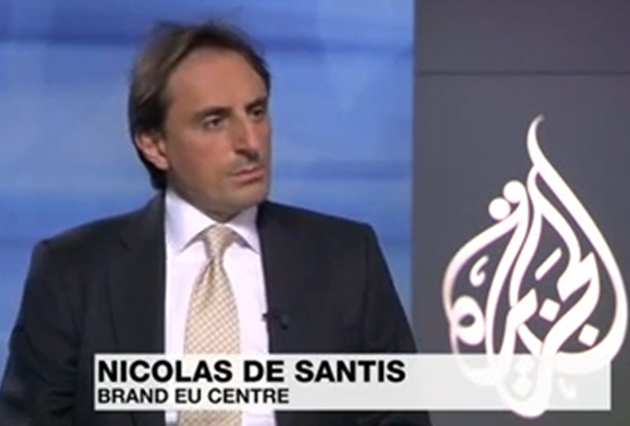 Nicolas De Santis Interviewed on Al Jazeera