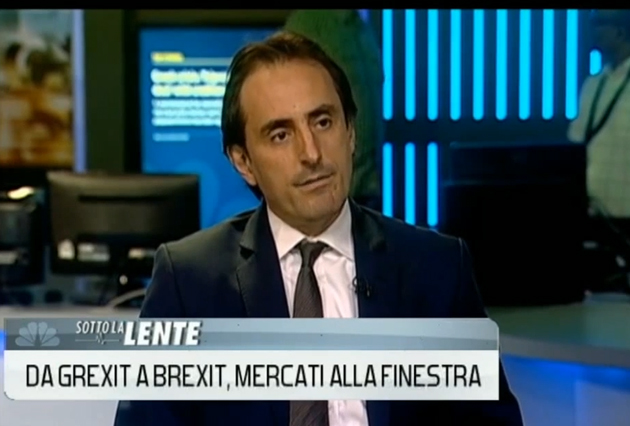 Nicolas De Santis on CNBC Italy on Consequences of Brexit & Grexit