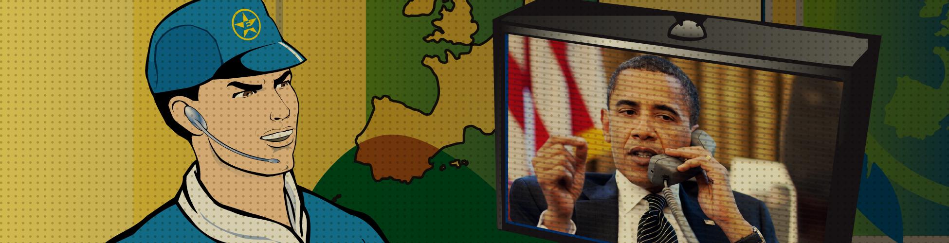 Captain Euro and Obama Discuss TTIP