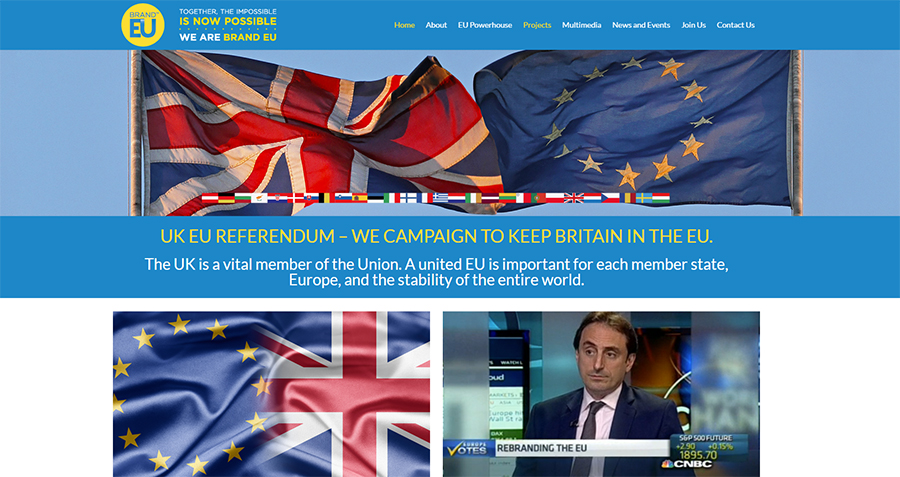BRAND EU campaign for Britain to stay in the EU