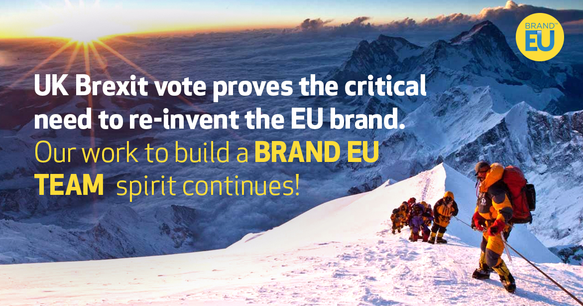 Britain votes to leave the EU. But our work to build a brand vision of a united Europe continues