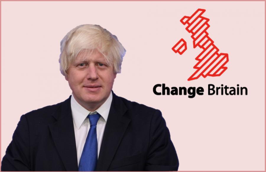 "Boris Johnson pressures ""Brexit"" by backing ""Change Britain"" campaign."