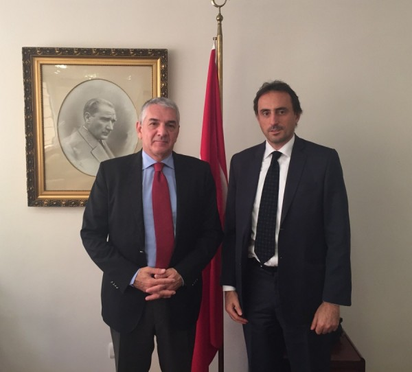 Nicolas De Santis, President of Gold Mercury, meets Ambassador of Turkey to the Kingdom of Spain.