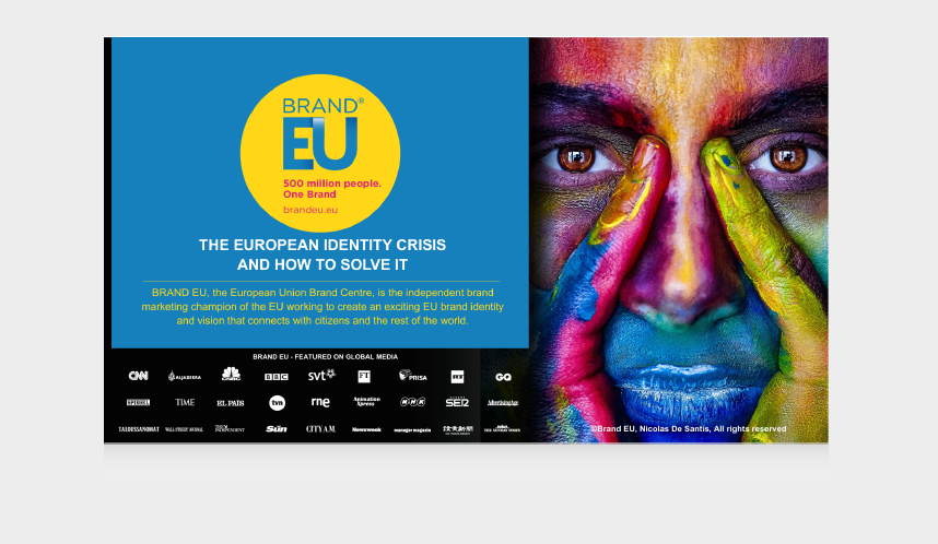 BOOK OUR KEYNOTE PRESENTATION: BUILDING BRAND EUROPE. BRAND EU FOUNDER, NICOLAS DE SANTIS, ON THE CURRENT STATE OF BRAND EUROPE AND THE TRUTH ABOUT BREXIT.